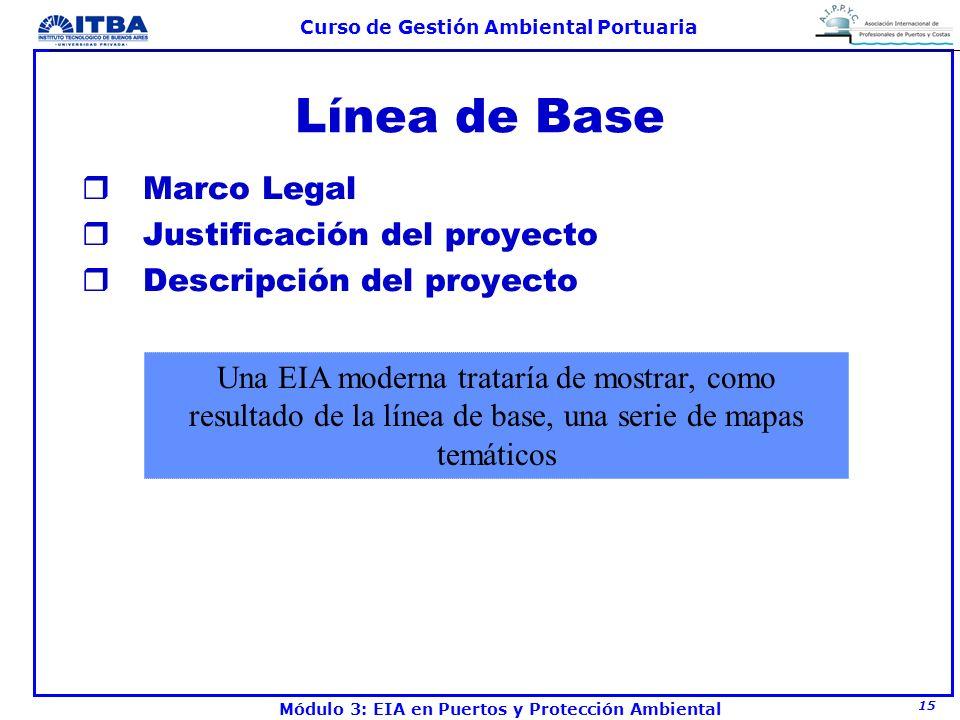 Línea de Base Marco Legal Justificación del proyecto