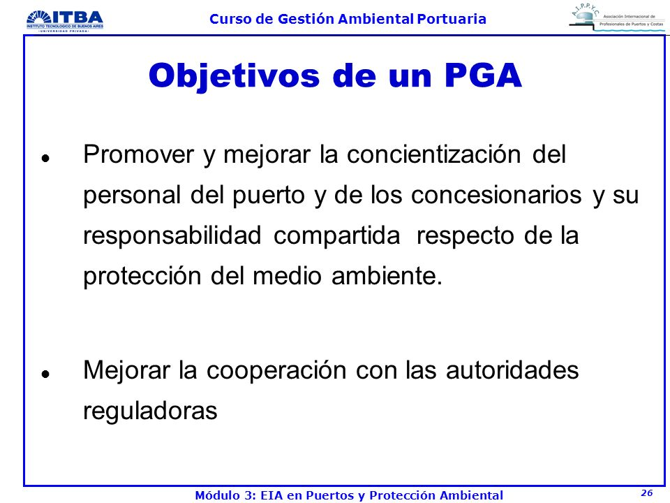 Objetivos de un PGA