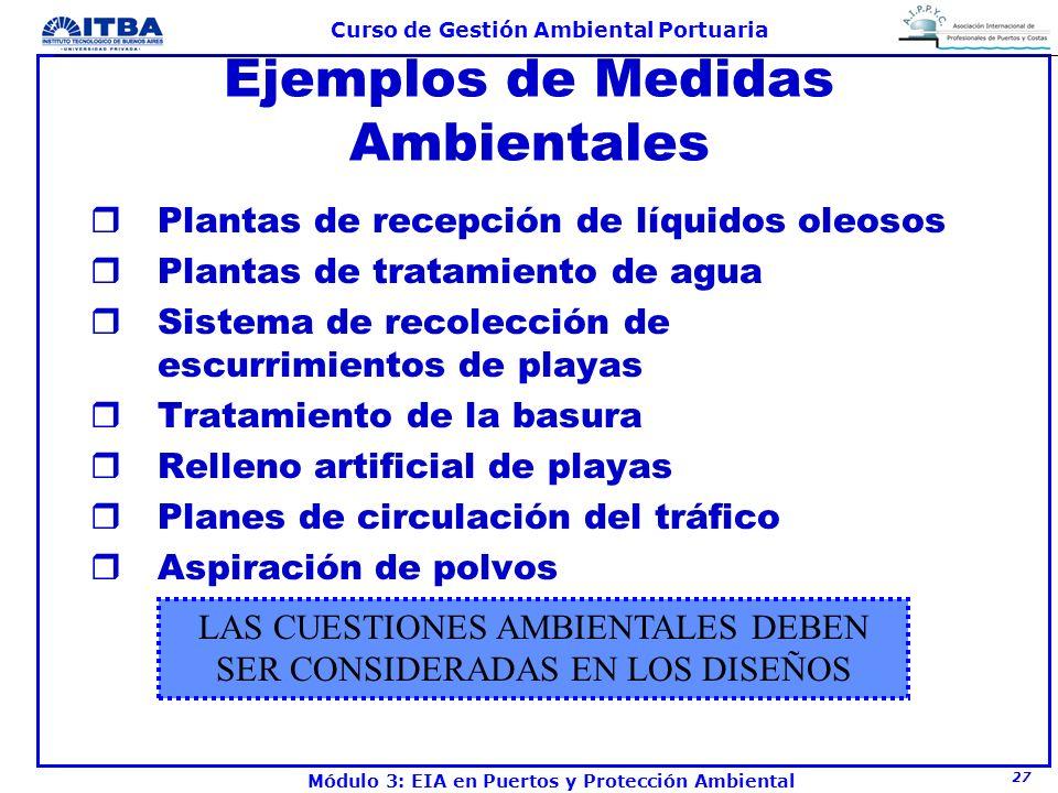 Ejemplos de Medidas Ambientales