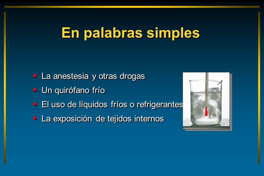 En palabras simples La anestesia y otras drogas Un quirófano frío