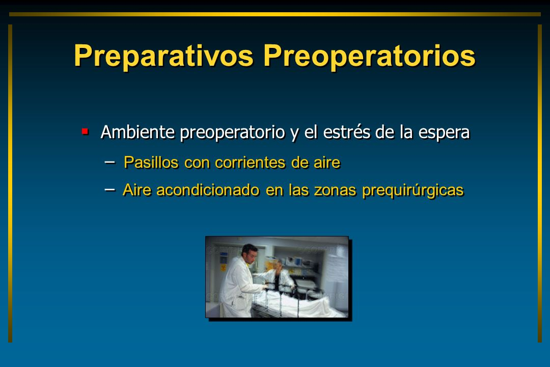 Preparativos Preoperatorios