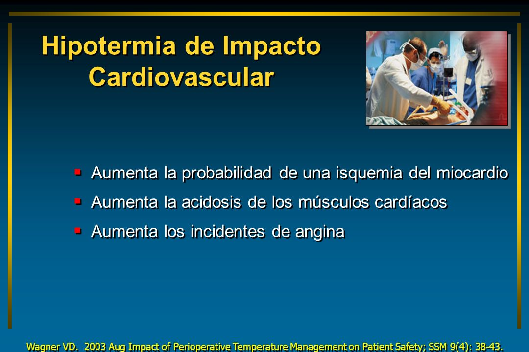 Hipotermia de Impacto Cardiovascular