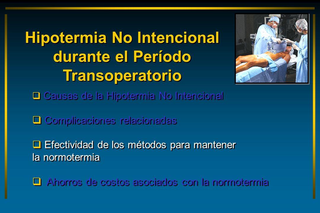 Hipotermia No Intencional durante el Período Transoperatorio