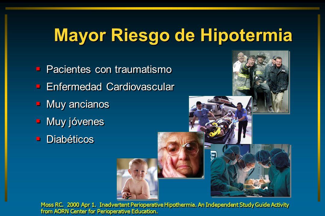 Mayor Riesgo de Hipotermia