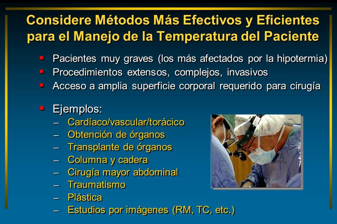 Considere Métodos Más Efectivos y Eficientes para el Manejo de la Temperatura del Paciente