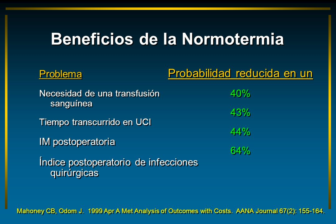 Beneficios de la Normotermia