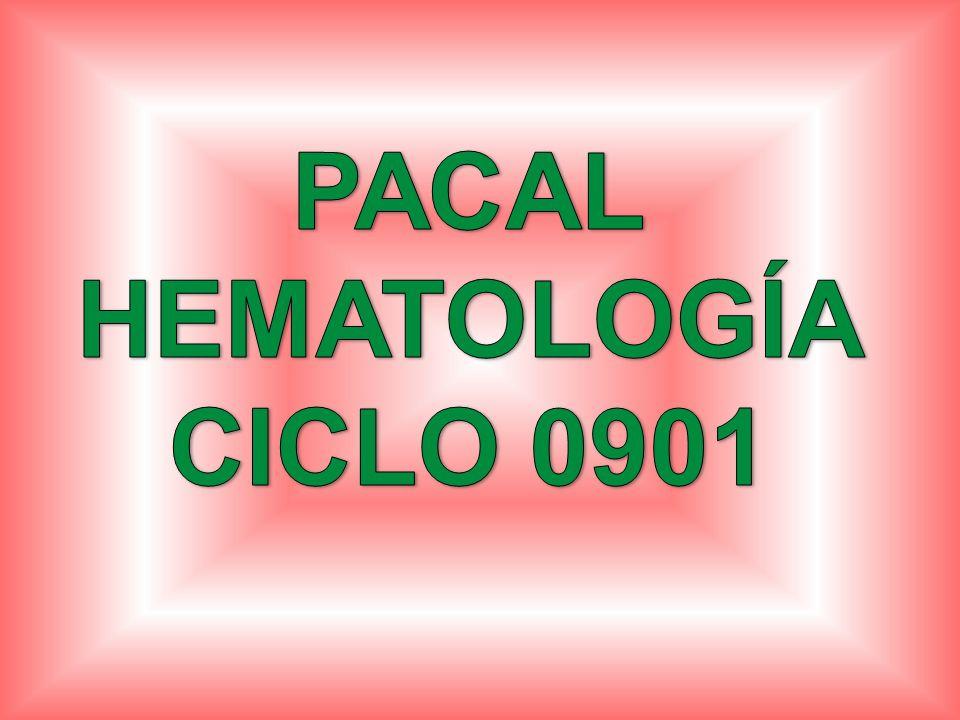 PACAL HEMATOLOGÍA CICLO 0901