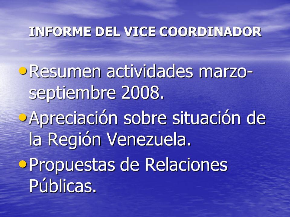 INFORME DEL VICE COORDINADOR