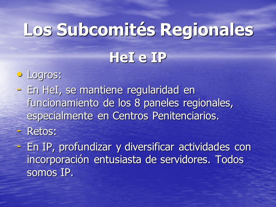 Los Subcomités Regionales