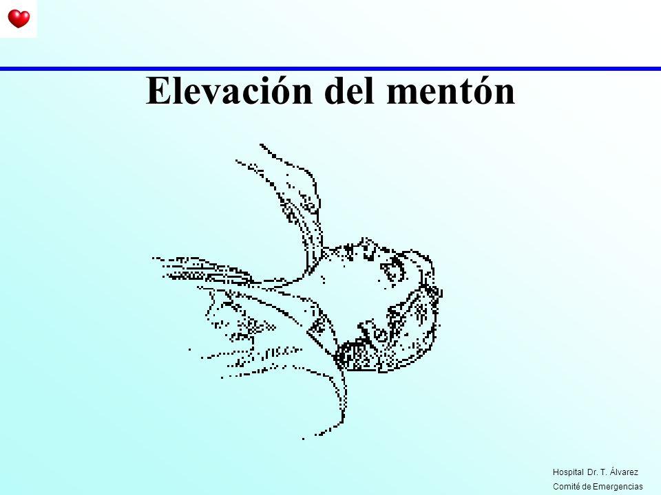 Elevación del mentón Hospital Dr. T. Álvarez Comité de Emergencias