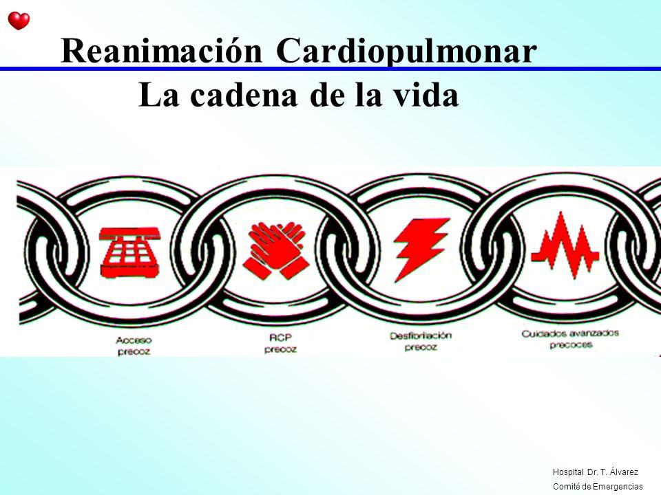 Reanimación Cardiopulmonar La cadena de la vida