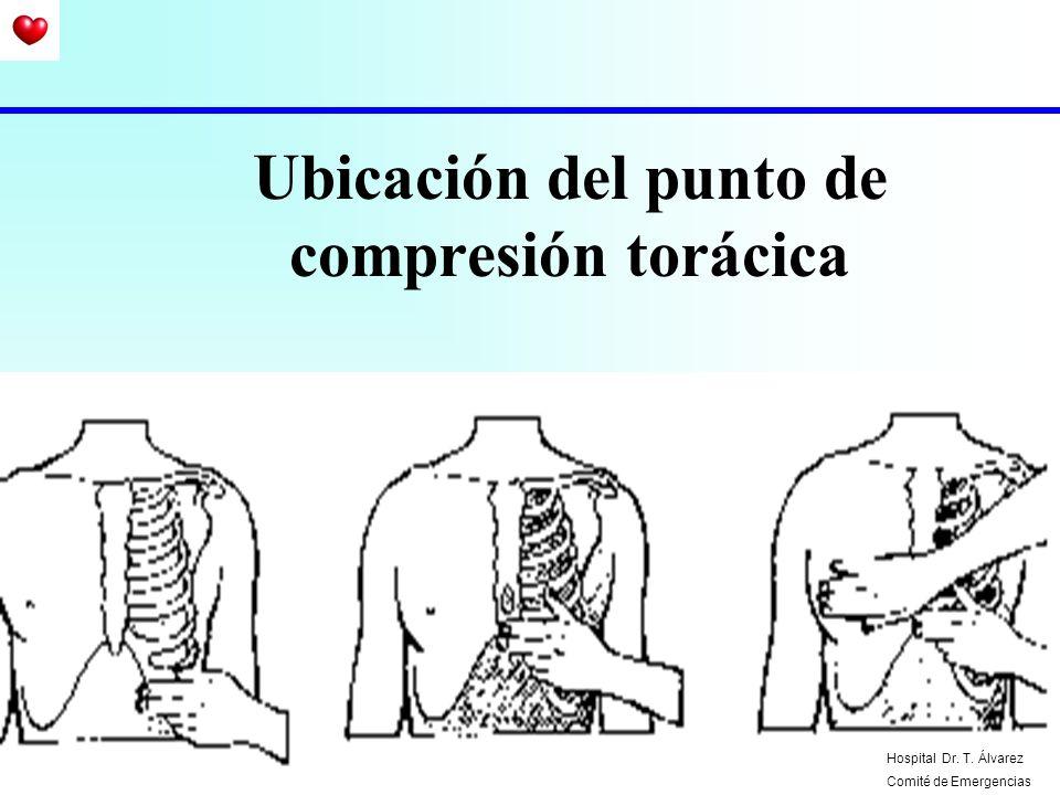 Ubicación del punto de compresión torácica