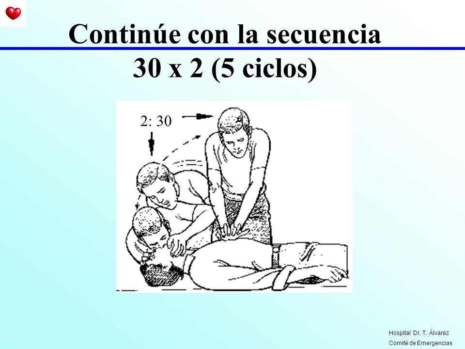 Continúe con la secuencia 30 x 2 (5 ciclos)