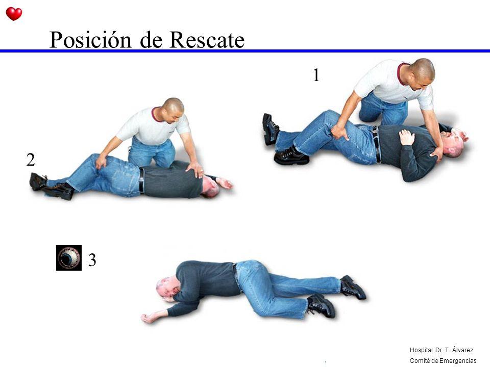 Posición de Rescate 1 2 3 Hospital Dr. T. Álvarez