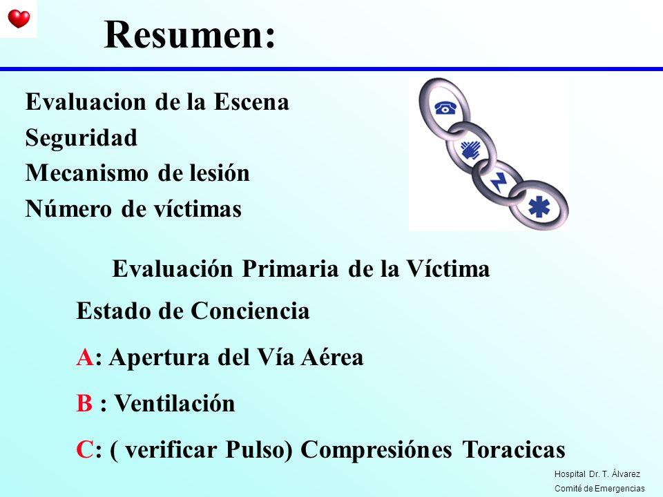Resumen: Evaluacion de la Escena Seguridad Mecanismo de lesión