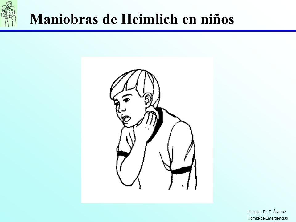 Maniobras de Heimlich en niños