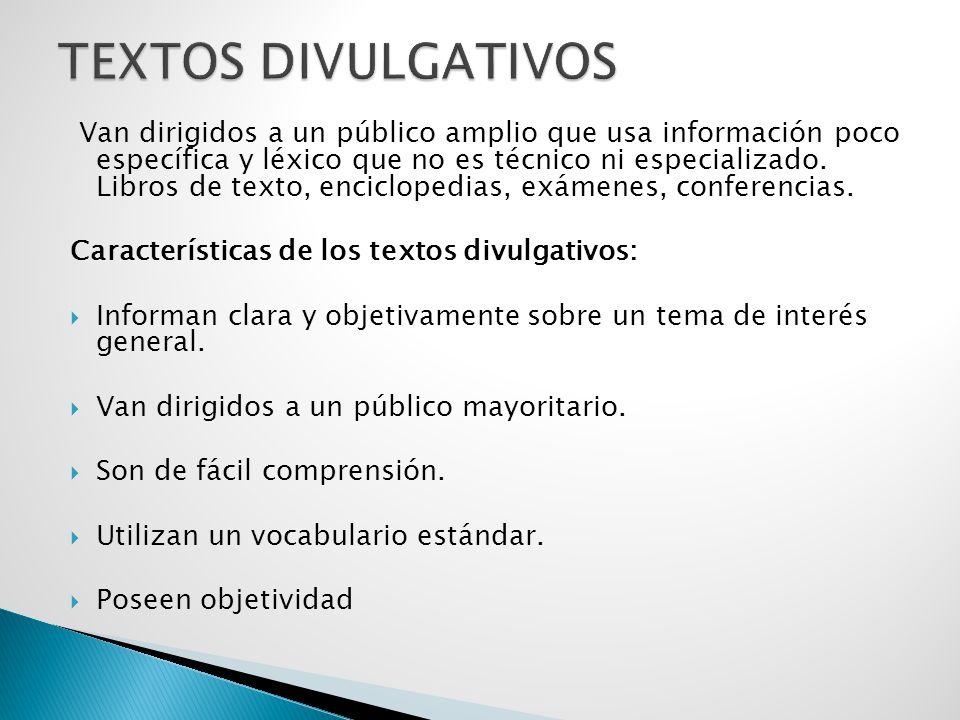 TEXTOS DIVULGATIVOS