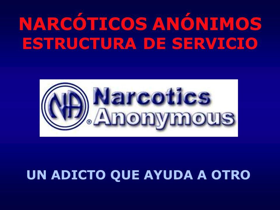 NARCÓTICOS ANÓNIMOS ESTRUCTURA DE SERVICIO