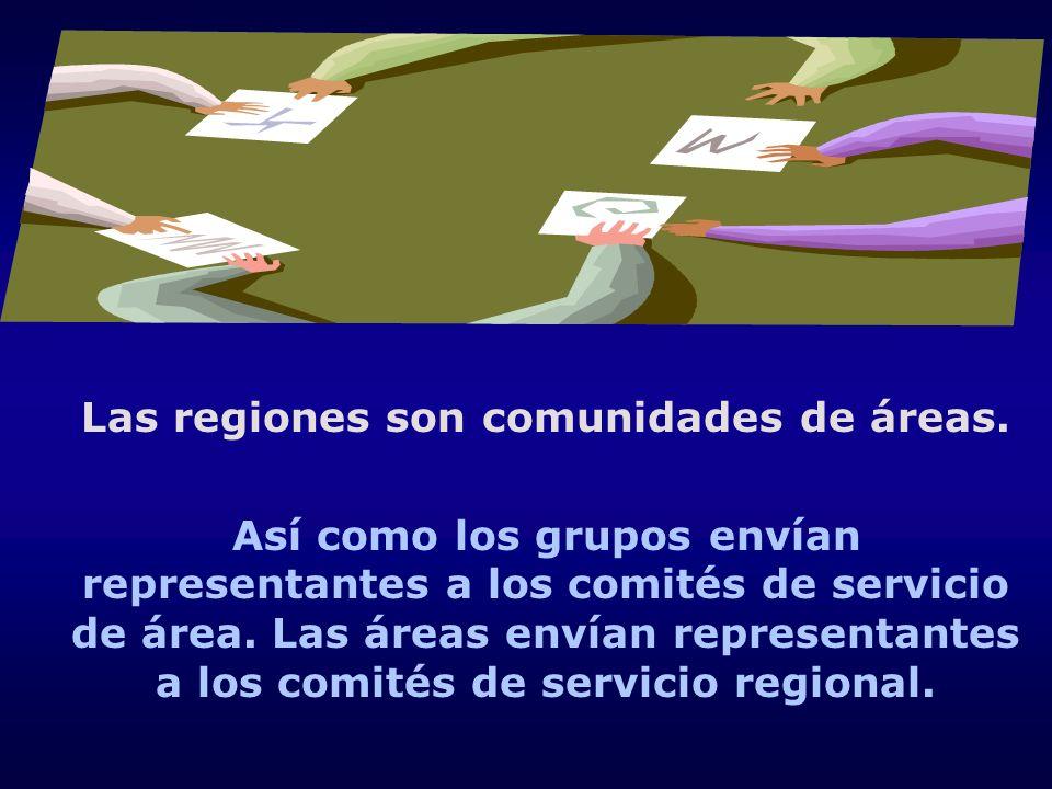 Las regiones son comunidades de áreas.