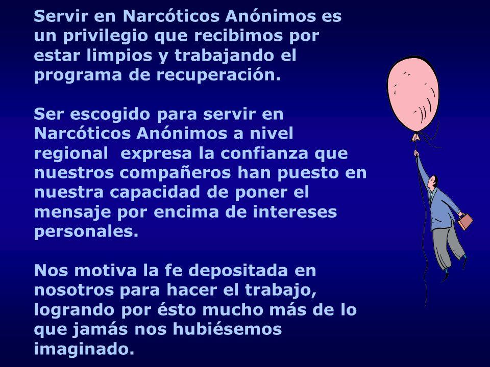 Servir en Narcóticos Anónimos es un privilegio que recibimos por estar limpios y trabajando el programa de recuperación.