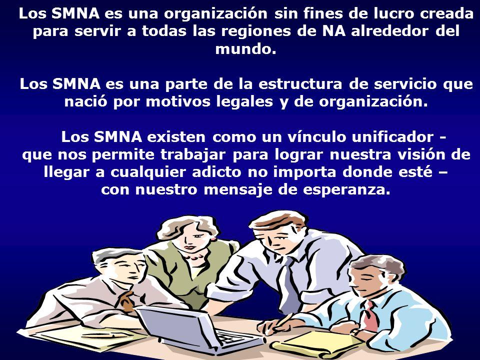 Los SMNA es una organización sin fines de lucro creada para servir a todas las regiones de NA alrededor del mundo.