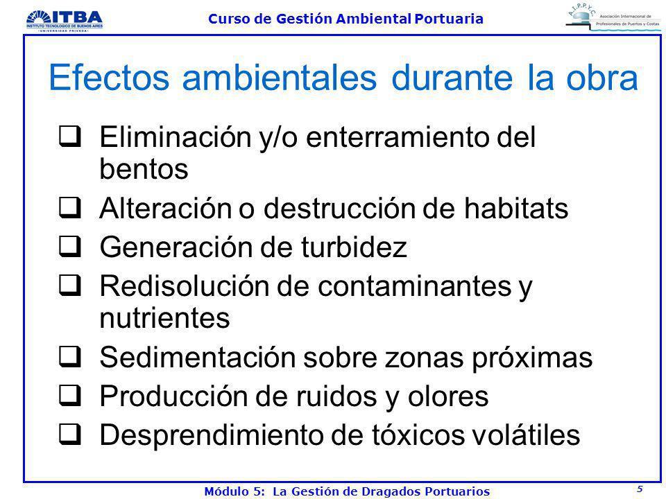 Efectos ambientales durante la obra