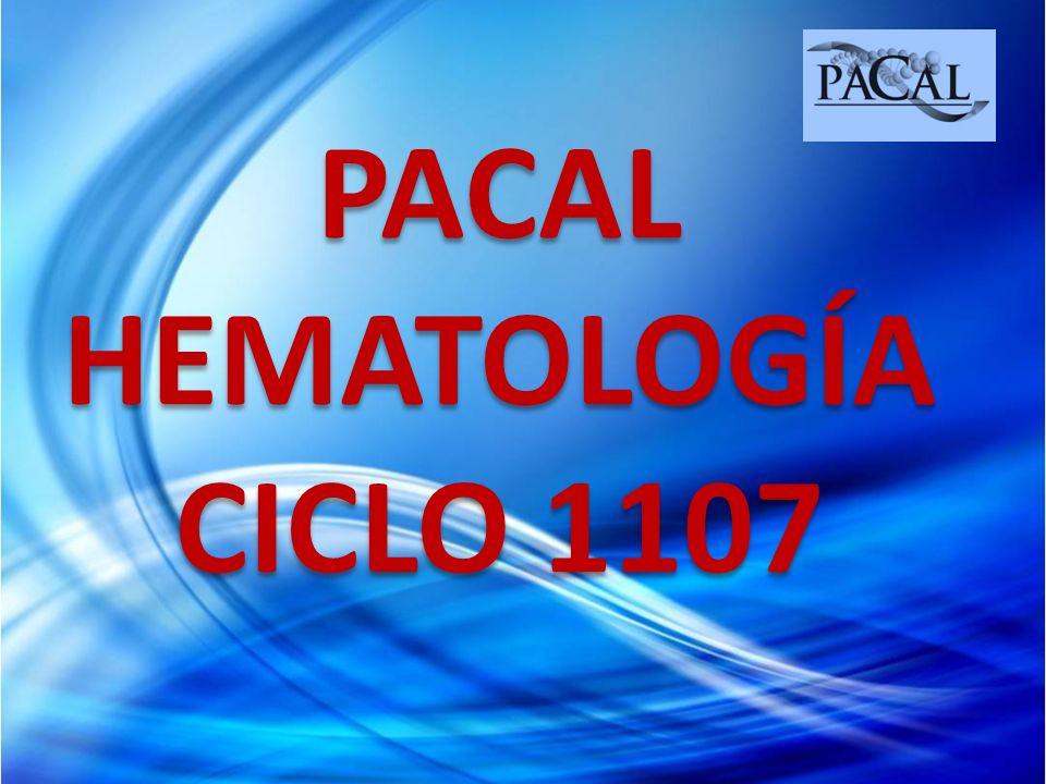 PACAL HEMATOLOGÍA CICLO 1107