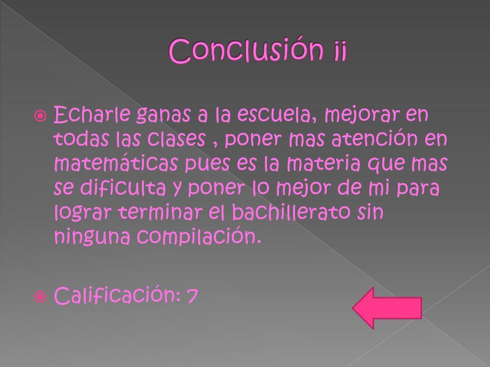 Conclusión ¡¡