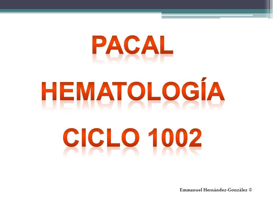 Pacal Hematología Ciclo 1002