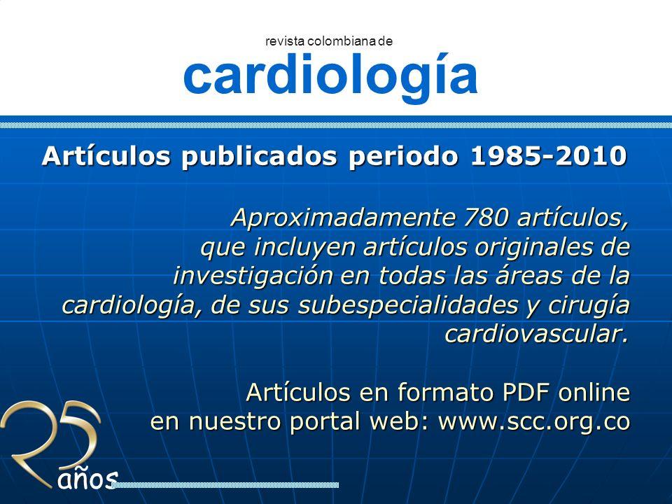 Artículos publicados periodo 1985-2010