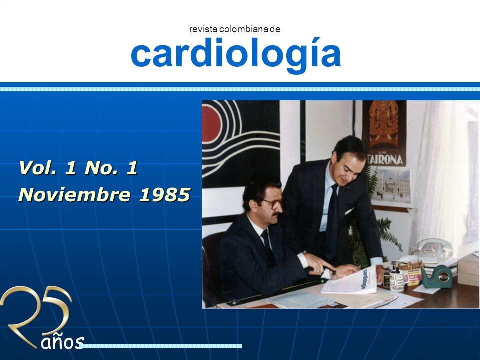 Vol. 1 No. 1 Noviembre 1985