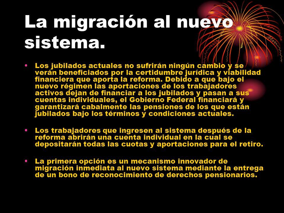 La migración al nuevo sistema.