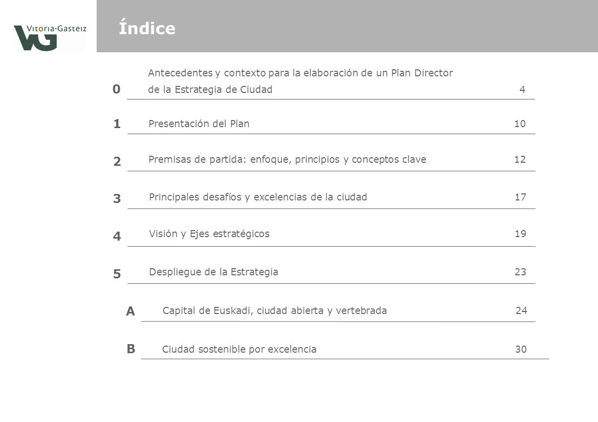 Índice Antecedentes y contexto para la elaboración de un Plan Director. de la Estrategia de Ciudad 4.