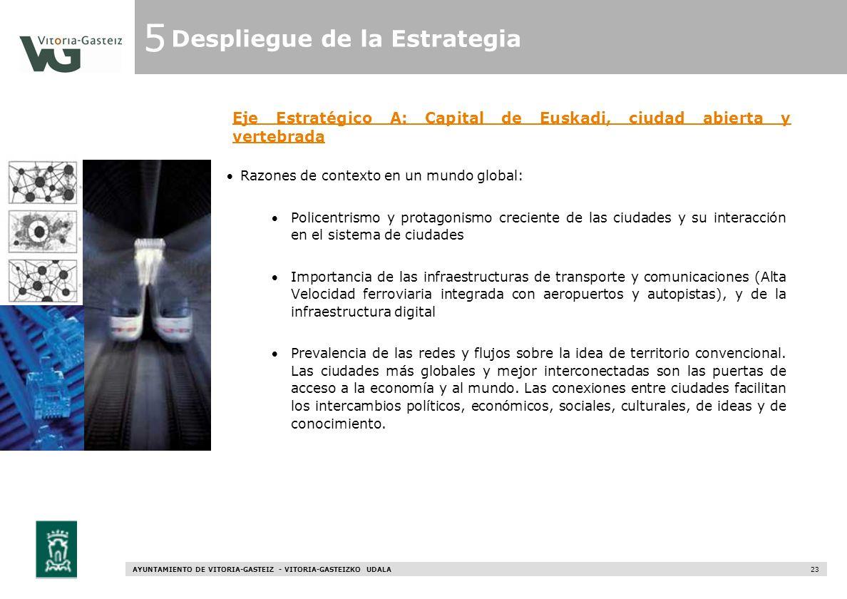 Eje Estratégico A: Capital de Euskadi, ciudad abierta y vertebrada