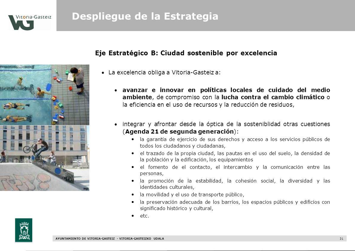 Eje Estratégico B: Ciudad sostenible por excelencia