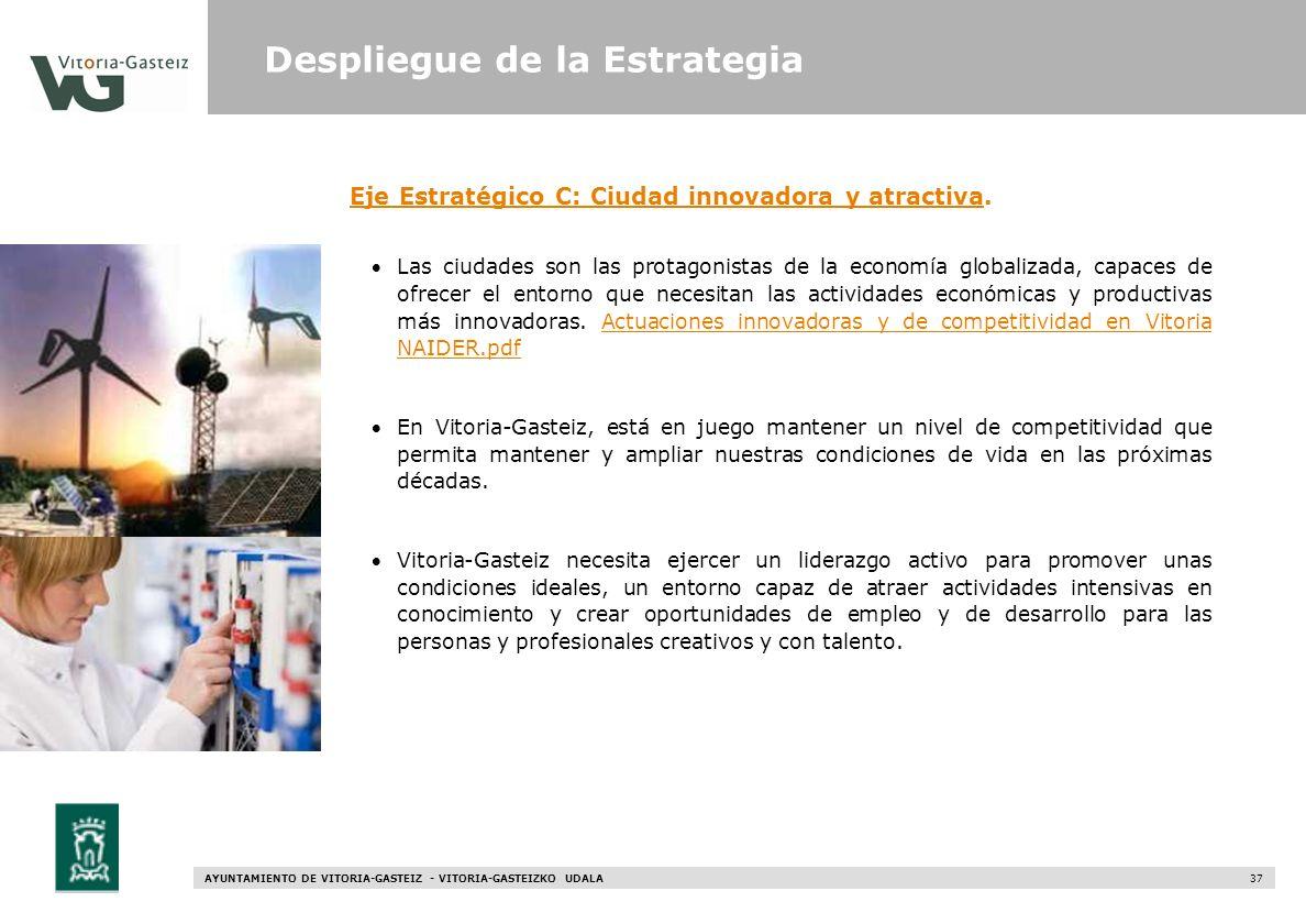 Eje Estratégico C: Ciudad innovadora y atractiva.