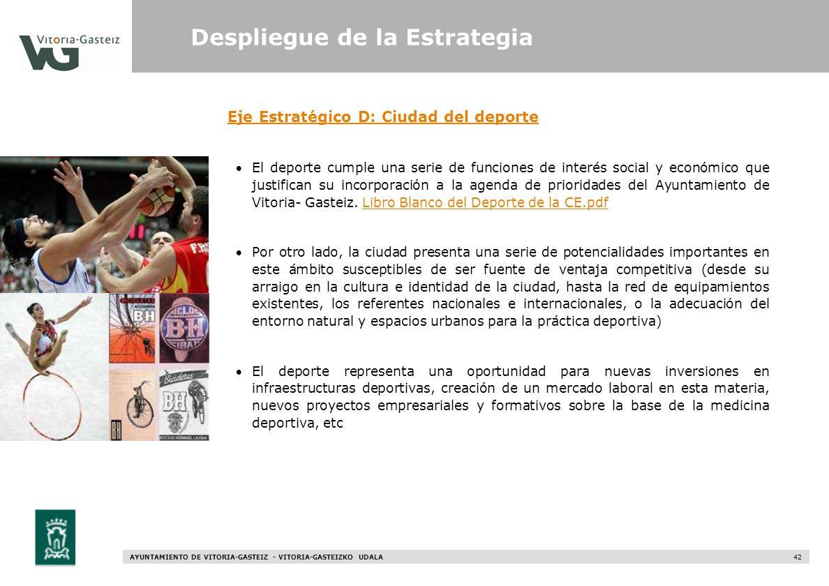Eje Estratégico D: Ciudad del deporte