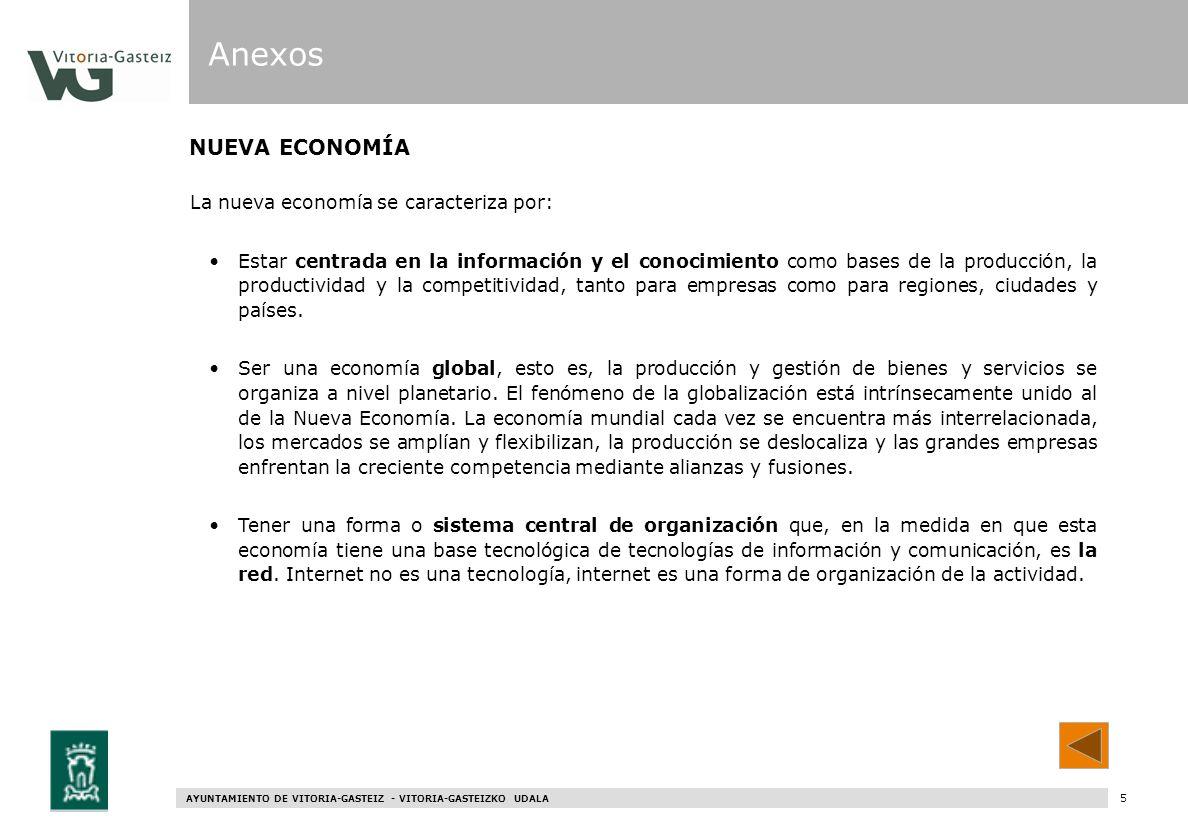 Anexos NUEVA ECONOMÍA La nueva economía se caracteriza por: