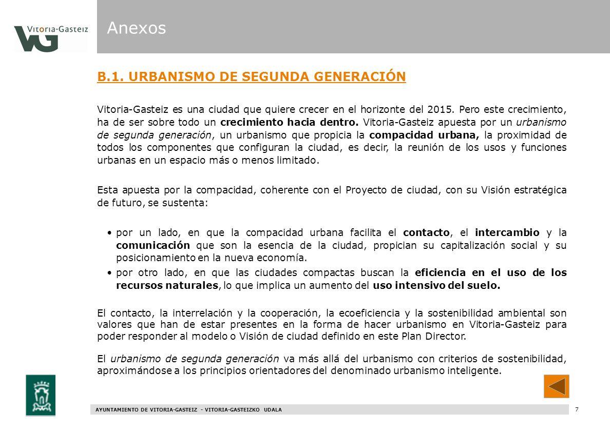 Anexos B.1. URBANISMO DE SEGUNDA GENERACIÓN
