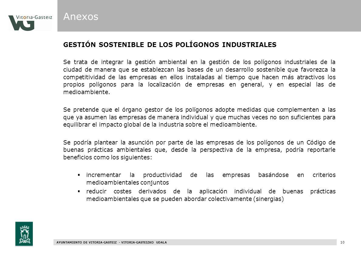 Anexos GESTIÓN SOSTENIBLE DE LOS POLÍGONOS INDUSTRIALES