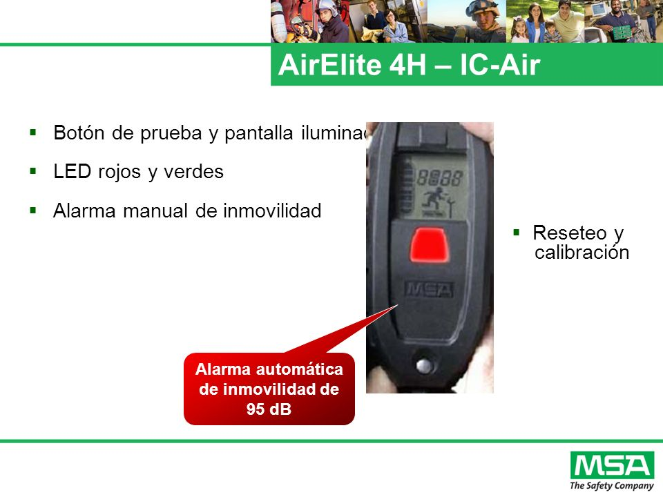 Alarma automática de inmovilidad de 95 dB
