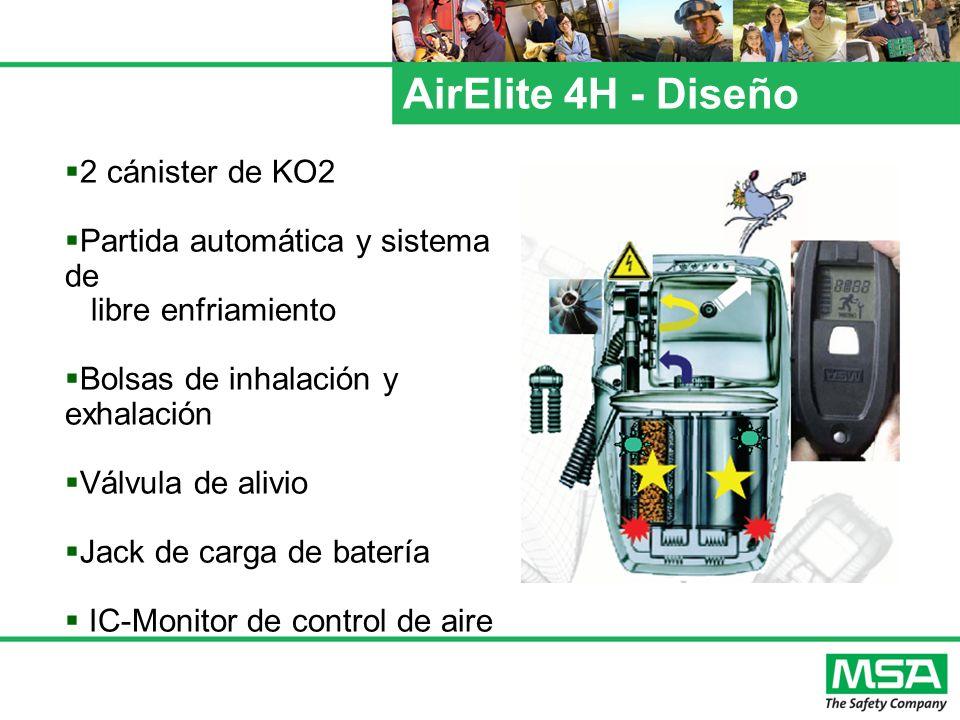 AirElite 4H - Diseño 2 cánister de KO2 Partida automática y sistema de