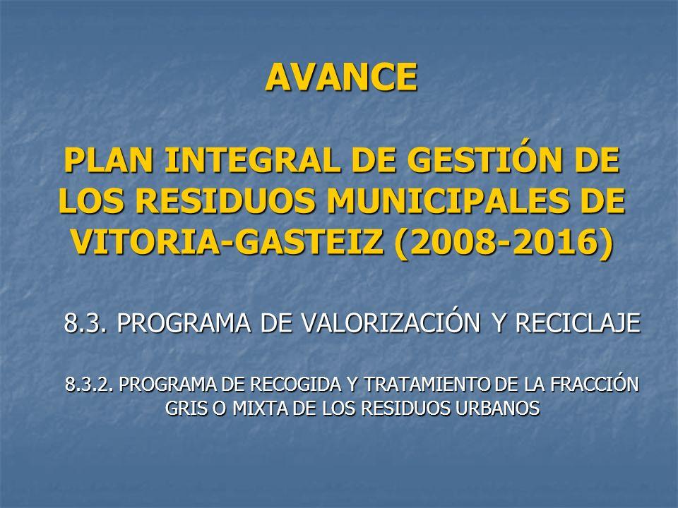 8.3. PROGRAMA DE VALORIZACIÓN Y RECICLAJE