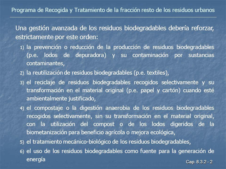 Programa de Recogida y Tratamiento de la fracción resto de los residuos urbanos