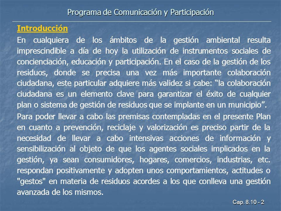 Programa de Comunicación y Participación