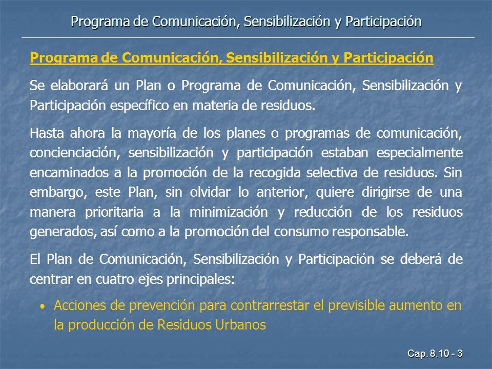 Programa de Comunicación, Sensibilización y Participación