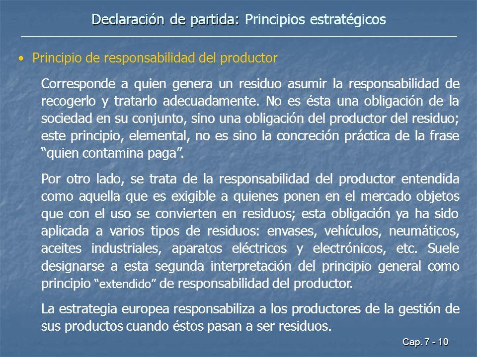 Declaración de partida: Principios estratégicos