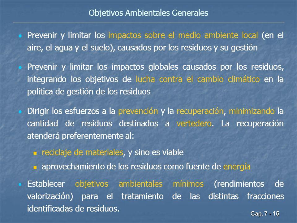 Objetivos Ambientales Generales