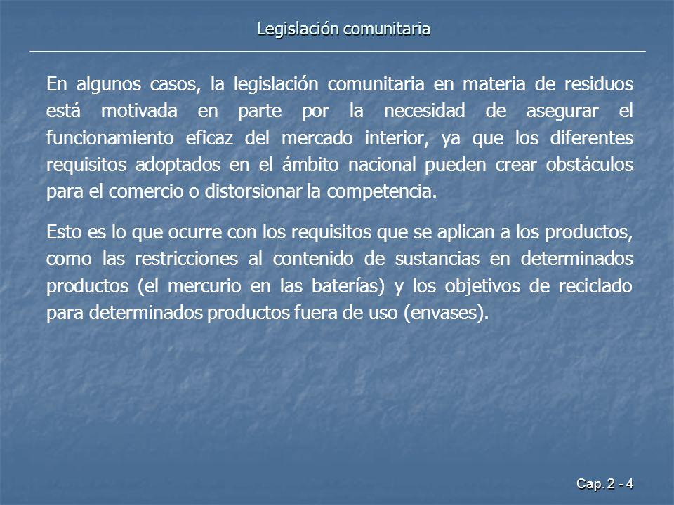Legislación comunitaria