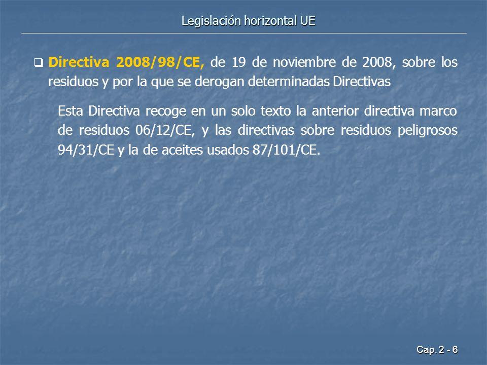 Legislación horizontal UE
